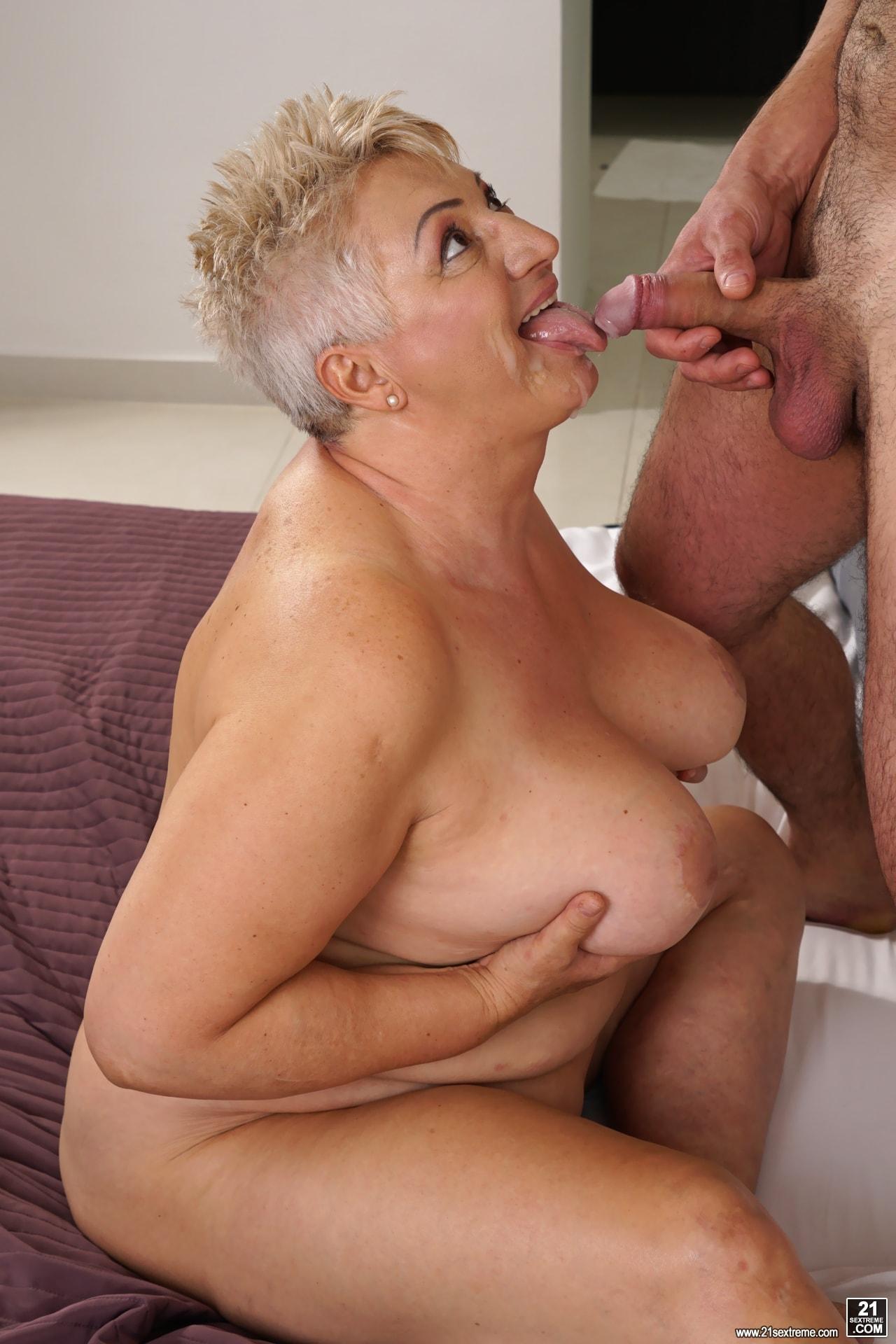 Blowjob grandma tits videos bottomless naked woods